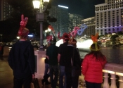 Yes, we wore the ballon hats on the Vegas strip