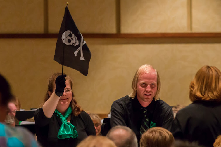 pirate flag used during performance