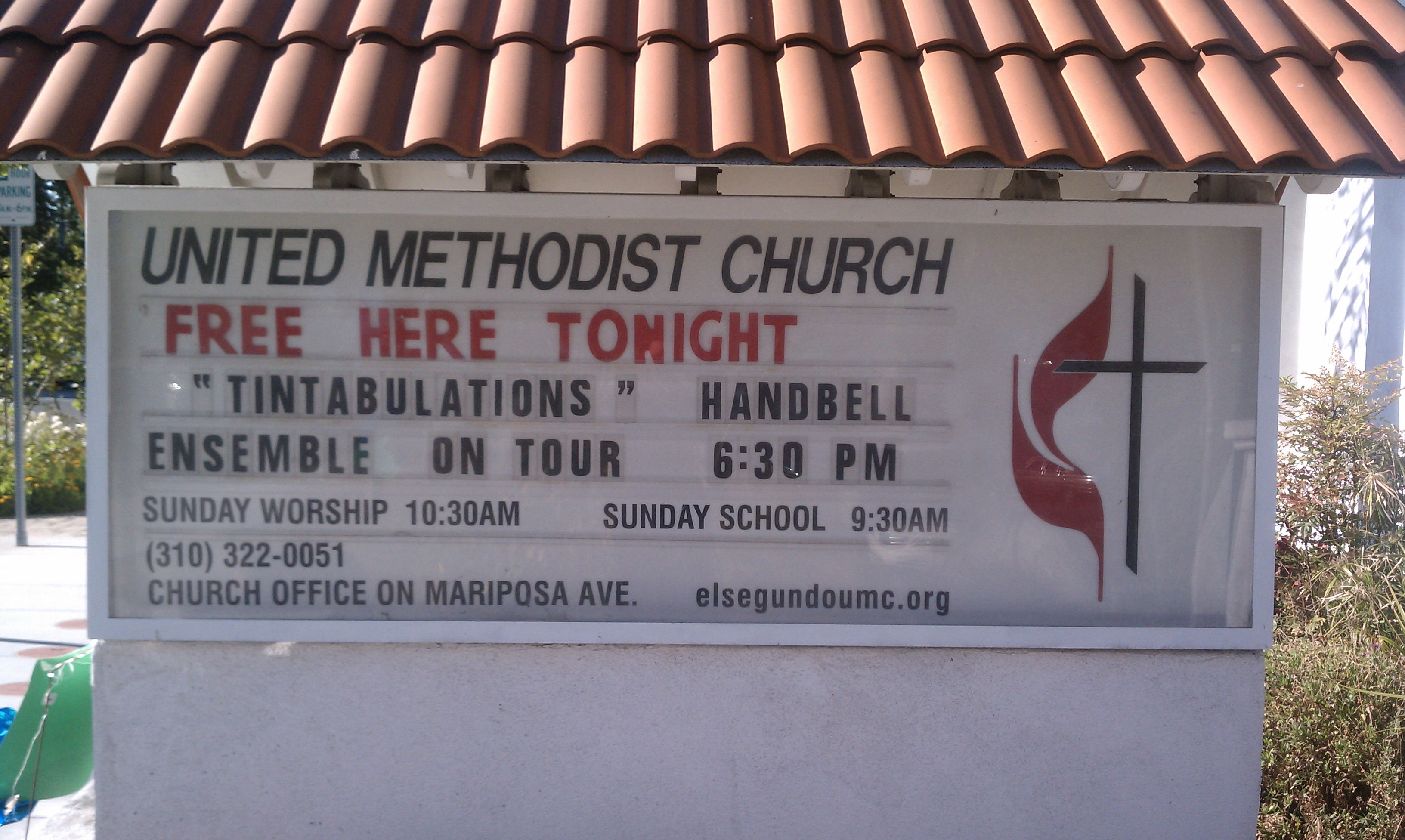 United Methodist sign