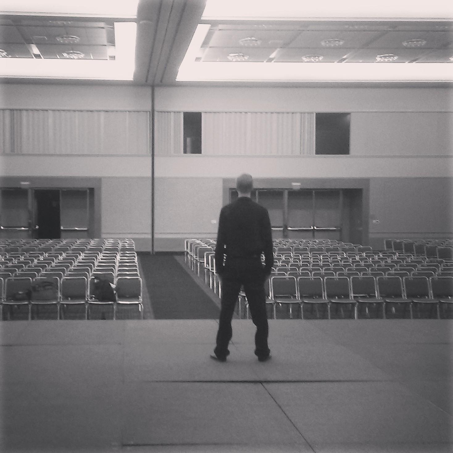 John on stage